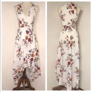 Fashion Nova Floral Wrap Dress size M
